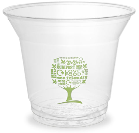 Compostable Green Tree Standard PLA Biodegradable Cold Drinks Cups - 9oz