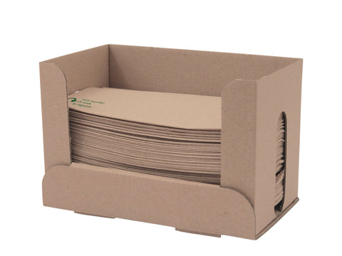 Compostable Kraft 1 Ply Dispenser Style Napkin - 33cm x 30cm