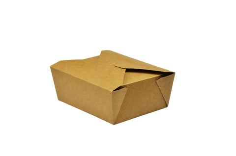 Compostable Kraft Biodegradable Hot Food Carton - 45oz
