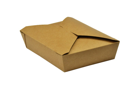 Compostable Kraft Biodegradable Hot Food Carton - 53oz