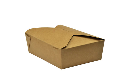Compostable Kraft Biodegradable Hot Food Carton - 64oz