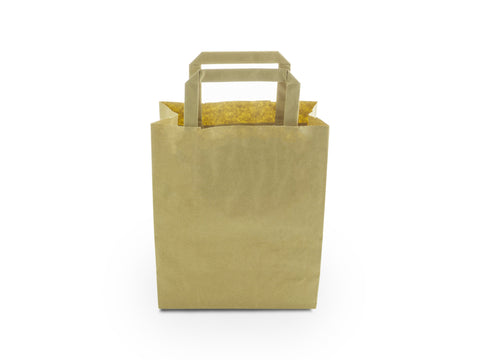 Kraft Brown Carrier Bag with Handle - Small