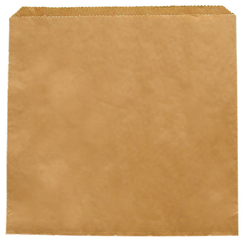 Kraft Flat Paper Counter Bags - 7inch
