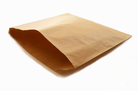 Kraft Flat Paper Counter Bags - 8.5inch
