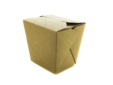 Compostable Kraft Hot Food Carton - Biodegradable Noodle Box