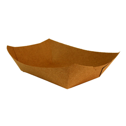 Compostable Kraft Hot Street Food Tray - Large