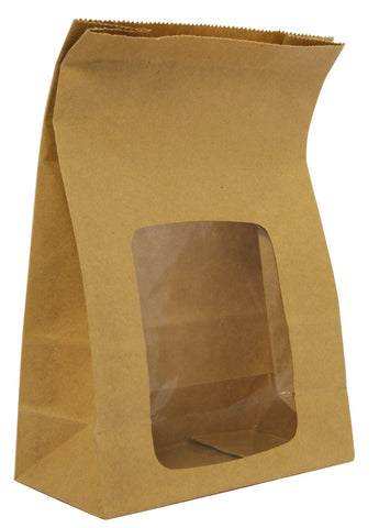 Kraft Bloomer Bag with Window