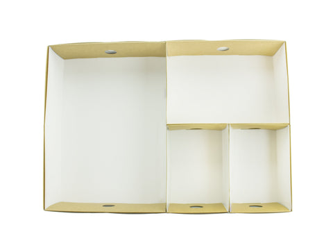 Compostable Kraft Sandwich Platter Box Inserts