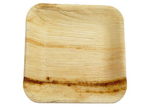 Compostable Palm Leaf Square Plate - 7inch
