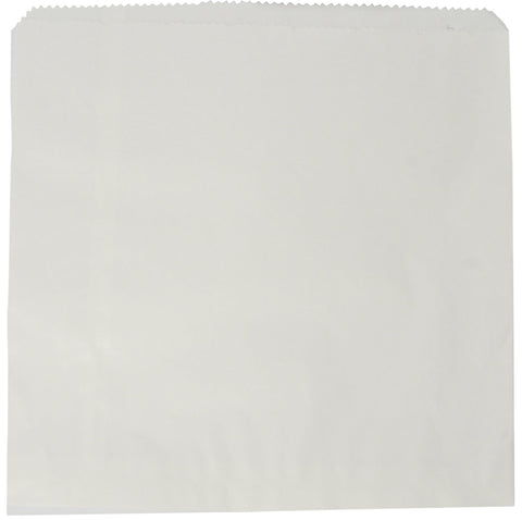 White Flat Paper Counter Bags - 8.5inch