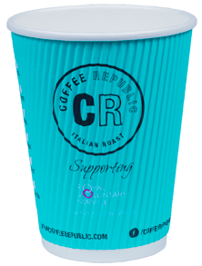 Custom Printed Eco-friendly Compostable Custom Printed Ripple Coffee Cups