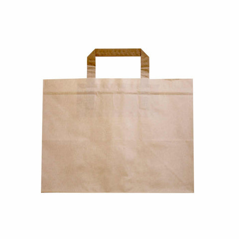 Compostable Kraft Brown Paper Carrier Bag - Deep
