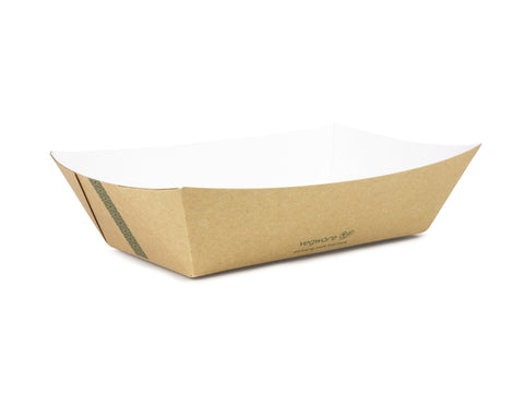 Eco-friendly Compostable Street Food Trays - 5lb