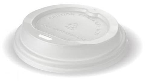 Biodegradable Compostable 8oz Coffee Cup Lids