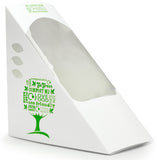 Eco-friendly Compostable Green Tree Sandwich Wedge - Standard