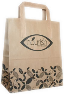 Custom Printed Compostable Paper Carrier Bags