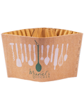 Custom Printed Compostable Sleeves For Cups and Soup Containers