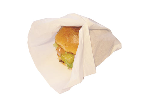 Eco-friendly Wax-Coated Burger Wrap - 25cm x 33cm