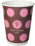 Custom Printed Compostable Double Wall Coffee Cups