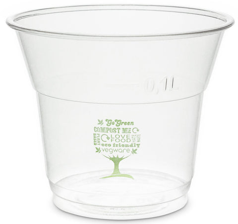 Green Tree Slim Compostable PLA Biodegradable Cold Drinks Cups - 5oz