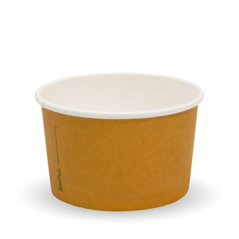 Compostable BioCup Ice Cream Container - 8oz