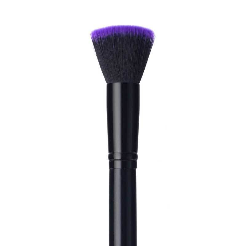BRUSHES - PURPLE FLAT TOP BUFFING FOUNDATION BRUSH