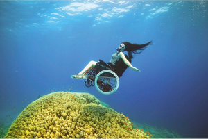 Sure Austin Deep sea diving in a wheelchair