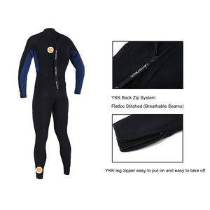 Lemorecn-young-3/2mm-wetsuit-one-piece-suit-back-zipper
