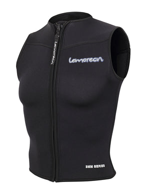 Lemorecn Womens Wetsuits Top Premium Neoprene 3mm Zipper Diving Vest