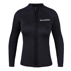Lemorecn Women's 3mm Wetsuits Jacket Long Sleeve Neoprene Wetsuits Top