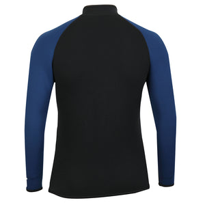 ADULT-3MM-NEOPRENE-WETSUIT-JACKET-TOPS-BLACK-BLUE