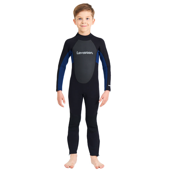 Lemorecn-kids-blue-3mm-neoprene-wetsuit-fullsuit-sun-protection