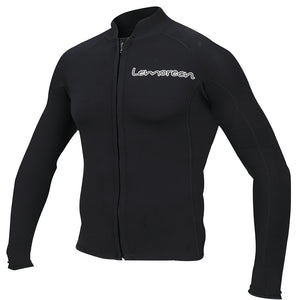 Lemorecn-men's-black-2mm-neoprene-zip-wetsuit-top