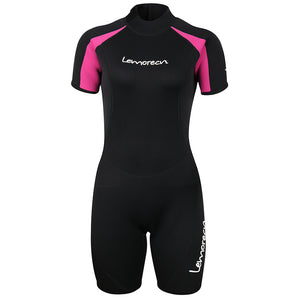 Lemorecn-women's-3mm-neoprene-wetsuit-shorty-suit