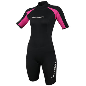 Lemorecn-women's-black-red-3mm-neoprene-wetsuit