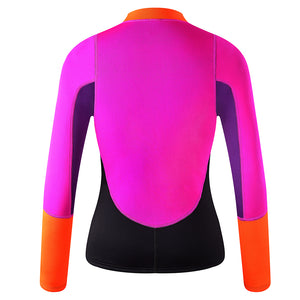 Lemorecn-women's-2mm-neoprene-front-zip-wetsuit-top