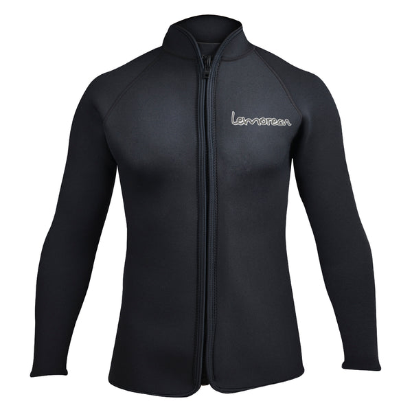 MEN-BLACK-NEOPRENE-WETSUIT TOPS