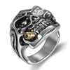 Biker Men's Rings Rock Punk Skull Ring- Rings For Men Jewelry