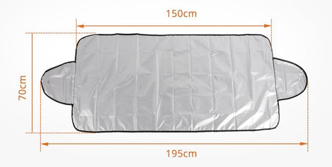 Car Windshield Cover Size