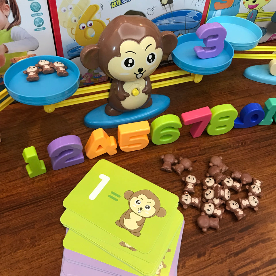 Monkey Balance Math Game Toy