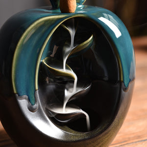 Cute Apple Pear Backflow Incense Burner