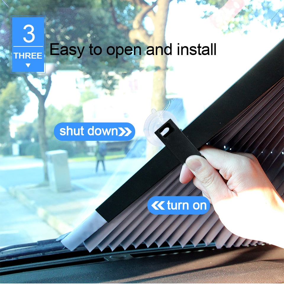 Retractable Car Windshield Sun Shade