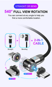 Double 360° Magnetic Cable (3 in 1)