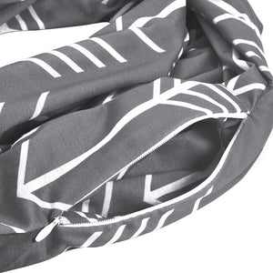 Fashion Infinity Scarf with Pocket