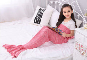 Mermaid Tail Blanket - Knitted Handmade, Warm and Soft