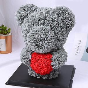 Rose Bear with Heart