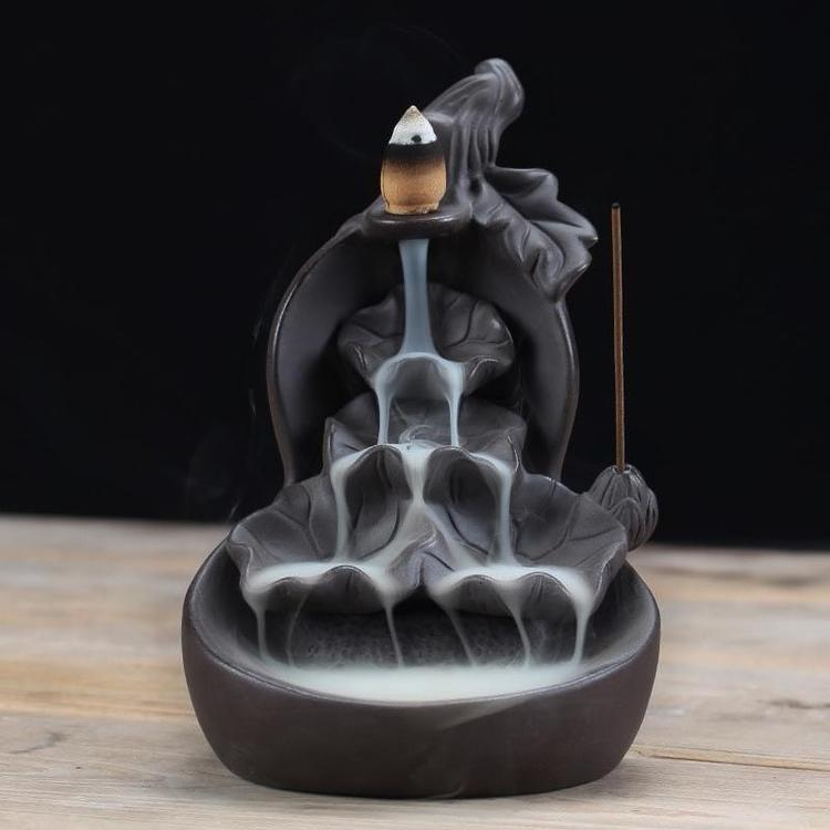 Lotus Waterfall Incense Burner