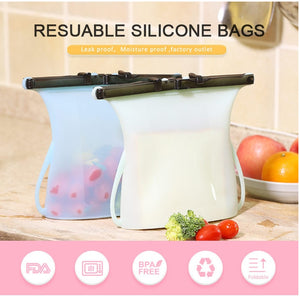 Zip Top Silicone Containers