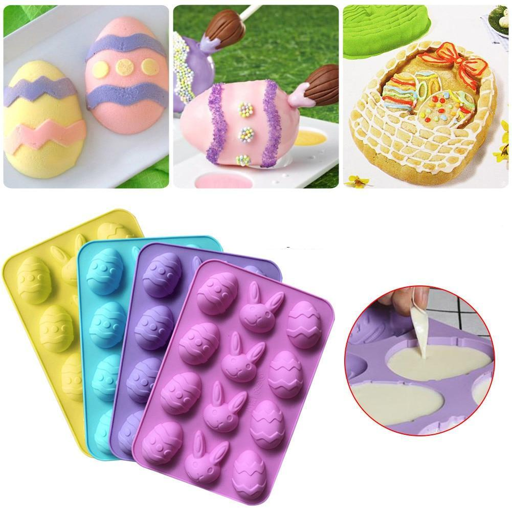 Silicone Cake Mold - Eggs, Rabbit