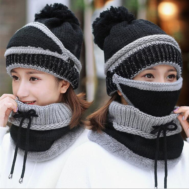 3 In 1  Beanie Hat Scarf and Mask